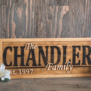 Family Name Sign, Last Name Sign, Wood Sign, Family Sign, Established Sign, Signs For Wedding, Personalized Sign, Family Gift, Outdoors Sign