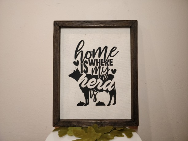 Rustic Sign Home Decor, Home Is Where My Herd Is