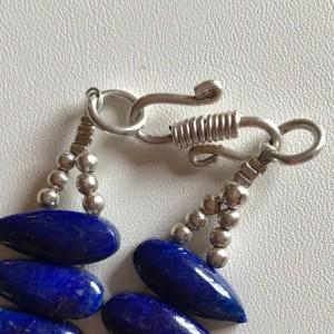 Handmade Natural Deep Blue Lapis Lazuli Teardrop Necklace