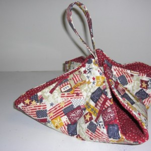 Patriotic Flags & Stars Casserole Carrier Tote