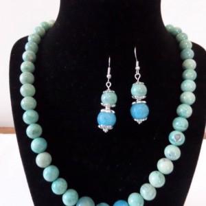 Blue Agate Jewewlry set