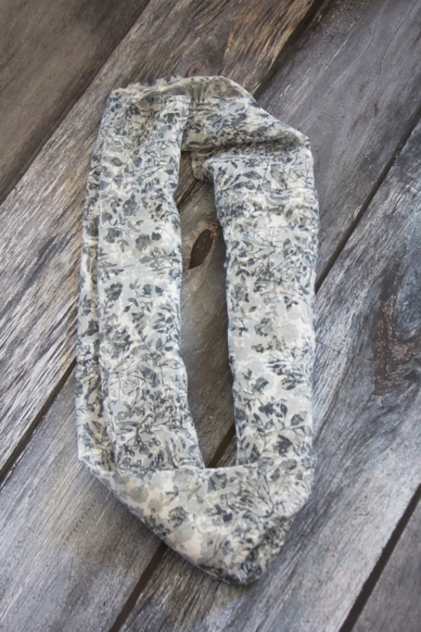 Beautiful Black and White Infinity Scarf~Women's Scarf
