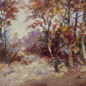 Landscape by Bogdan Goloyad 18x24 cm oil on canvas