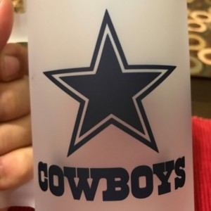 Custom Made Dallas Cowboys Frosted Beer Stein 16 oz Glass Mug