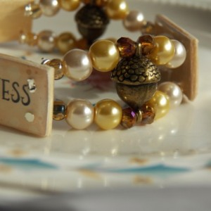 Truth Beauty Goodness Bracelet, Amber