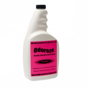 ODOREZE Natural Portable Toilet Deodorizer & Cleaner: 32 oz. Concentrate Makes 128 Gallons