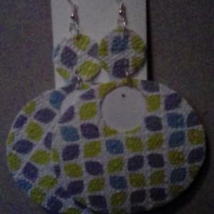 Fabric paper earrings