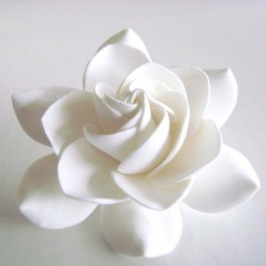 Gardenia Hair Clips Bridal Hair Accessories Wedding Hair Flower Handmade Clay Gardenia