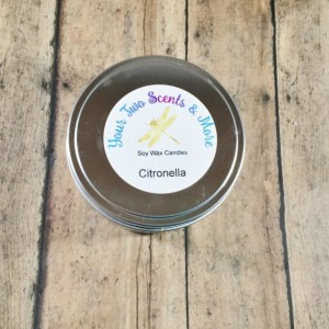 Citronella Scented Soy Candle, Handmade Candle, Bug Repellent, Soy Wax Candle, Natural Candle, Vegan Candle, Outdoor Candle, 8 Oz Candle Tin
