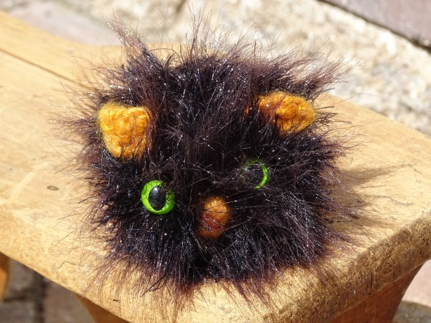Stuffed Cat, Gift for Cats Lover, Kitty, Knitted Cat, Black Kitty