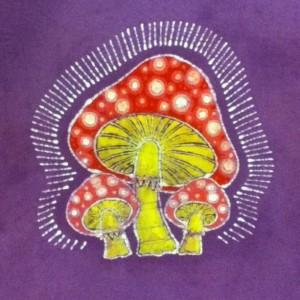 Mushroom Custom Batik Tshirt