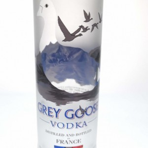 Repurposed & Upcycled Grey Goose Vodka Bottle Collins Glasses, Set of 2.