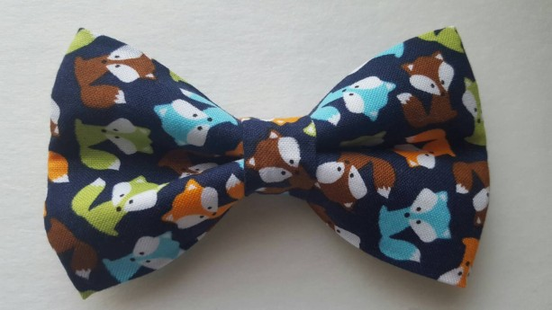 Fox pet bow tie