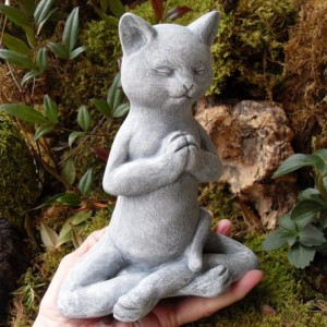 Buddha,Buddha Statue,Cat Buddha,Buddha Cat,Meditation Cat Statue,Bodhisattva Decor,Zen Garden Decor,Stone