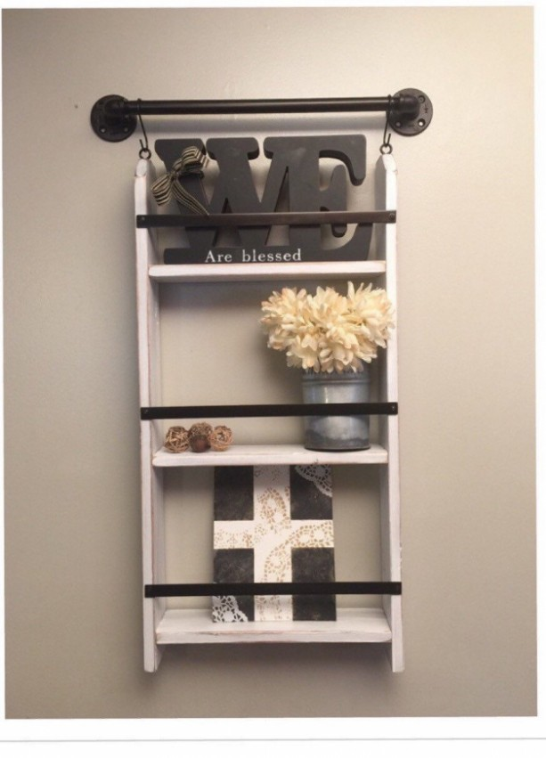 Rustic farmhouse shelf farmhouse shelf farmhouse ladder shelf