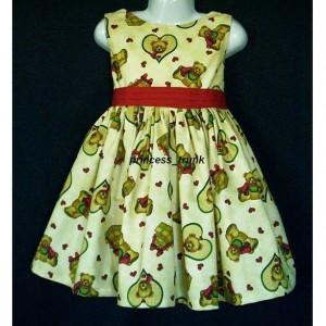 NEW Handmade Looney Tunes Blue Christmas Dress Custom Sz 12M-14Yrs