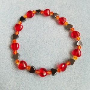 fire heart bracelet