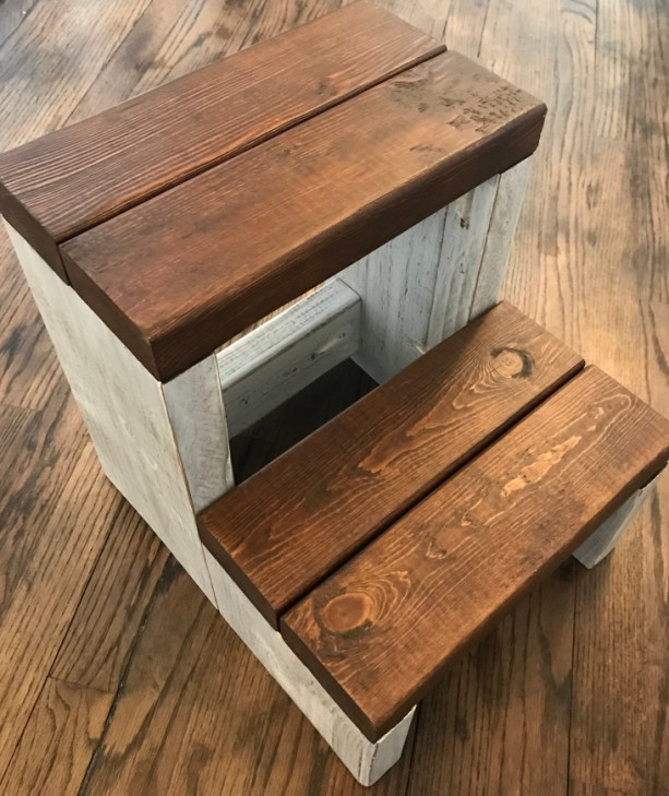 Segmented Step Stool / Kids Step Stool / Toddler Step Stool / Kitchen Step Ladder / Kids Stool / Children's Step Stool / Step Ladder