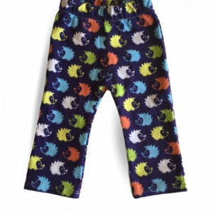 Multi Colored Hedgehog Toddler/Baby Lounge Pants, Fun Lounge Pants, Colorful Lounge Pants, Hedgehog Lounge Pants, Unisex Toddler/Baby Pants