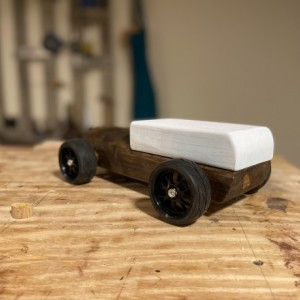 Handcrafted Wood Push Car - 1930's Ratrod