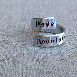 Move Mountains | Personalized Ring | Gift for Her | Hand Stamped Ring | Inspiration Ring | Mantra Ring