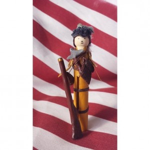 Handmade Mini American Frontiersman w/Accessories Gift Set