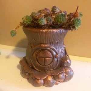 Dragonfly Fairy House Planter/Votive Candle Holder