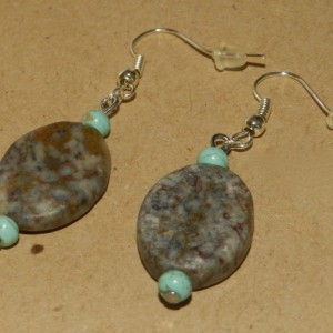 Marble & Magnesite Earrings A03432
