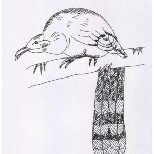 Snake Reptile Black and White Original Art Illustration Drawing Ink Nature Animal Decor 11 x 7.5