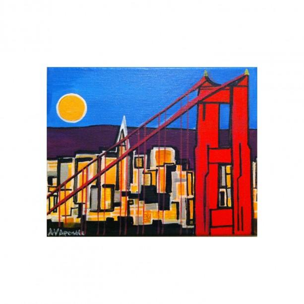 "San Francisco Golden Gate Bridge #2 - 8""x10"" PRINT Signed By Artist A.V.Apostle"
