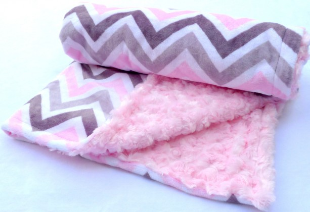 Chevron Baby Blanket Baby Blanket Pink And Grey