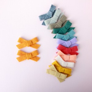 Wool Felt Bow (Set of 4), newborn baby, little girl, toddler hair