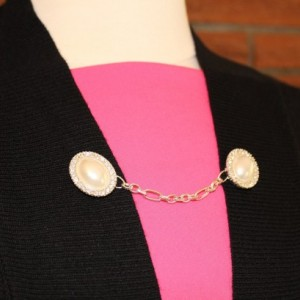 Rhinestones and Pearls Sweater Pin