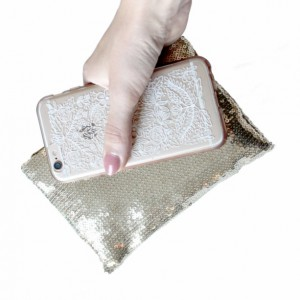 Gold Sequin Handbag Evening Purse Formal Clutch - by KatieGariepy