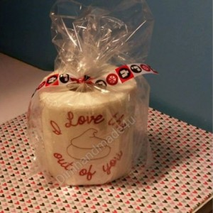 I Love the Poop out of you Embroidered Toilet paper. Great gift! Comes gift wrapped!