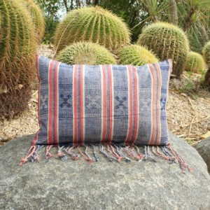 "Sumba ""Dutchie"" Hand-Woven Ikat 18 x 12.5 inches Pillow Cover, Traditional Fabric, Dutch pattern, Modern Decorative Pillow Case with hand-loomed details"