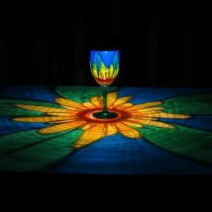 HandPainted Solar Daisy Luminary Lantern