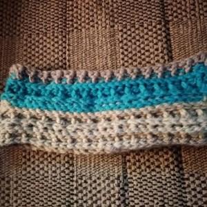 Blue & Gray Headband, blue headband, gray headband, silver headband, blue earwarmer, silver earwarmer, headband, ear warmer, headbands