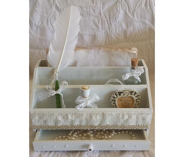 Handcrafted Salvage Wood Lady's Keepsake Box