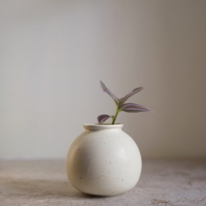 small white porcelain bud vase - handmade ceramics