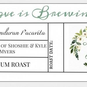 100 Custom Elegant Wedding Favors. Elegant Handmade Wedding Favors. Fresh Roasted Coffee.
