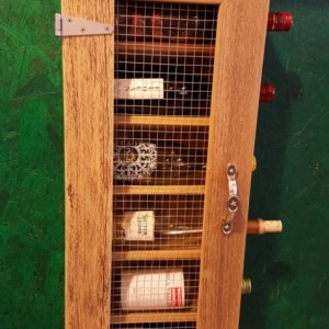 Handcrafted Rustic Wine Cabinet