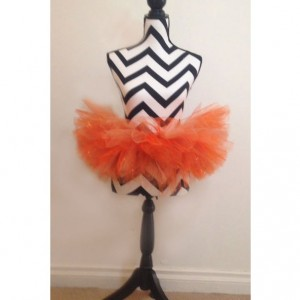 Pumpkin Perfect Sparkle Orange Tutu -  New Born & Baby Sized
