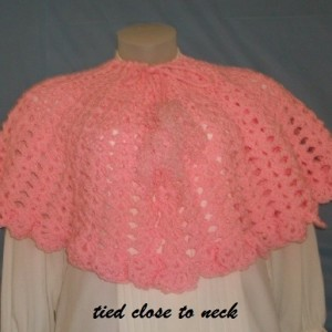 Crochet elbow length cape