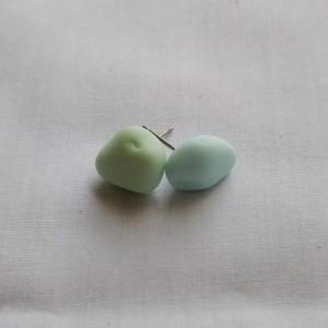 Milk sea glass stud earrings, mismatched earrings, milk glass earrings, milk glass jewelry, glass stud earrings, sea glass stud earrings