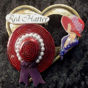 Red Hatter Brooch