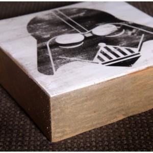 Star Wars Darth Vader Reclaimed Wood Block Art Piece