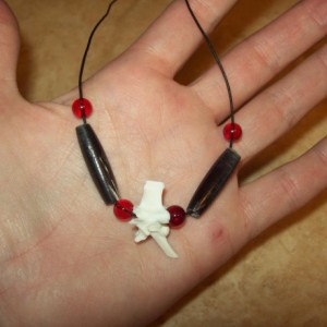 XXL Snake vertebrae necklace  made snake totem