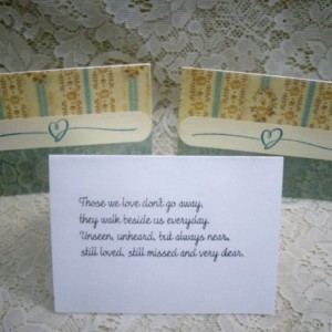 Set of 2 matching Sympath Cards, Printed inside... #6482