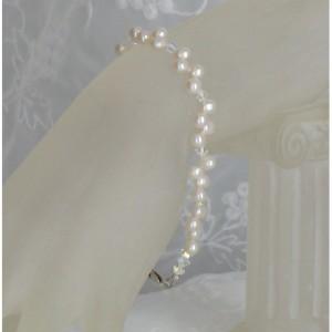 Sterling Silver Swarovski Freshwater Pearl Bracelet